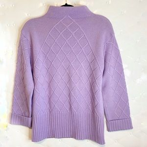 Vintage ESCADA  RARE Lilac Sweater Mock Neck SZ 34